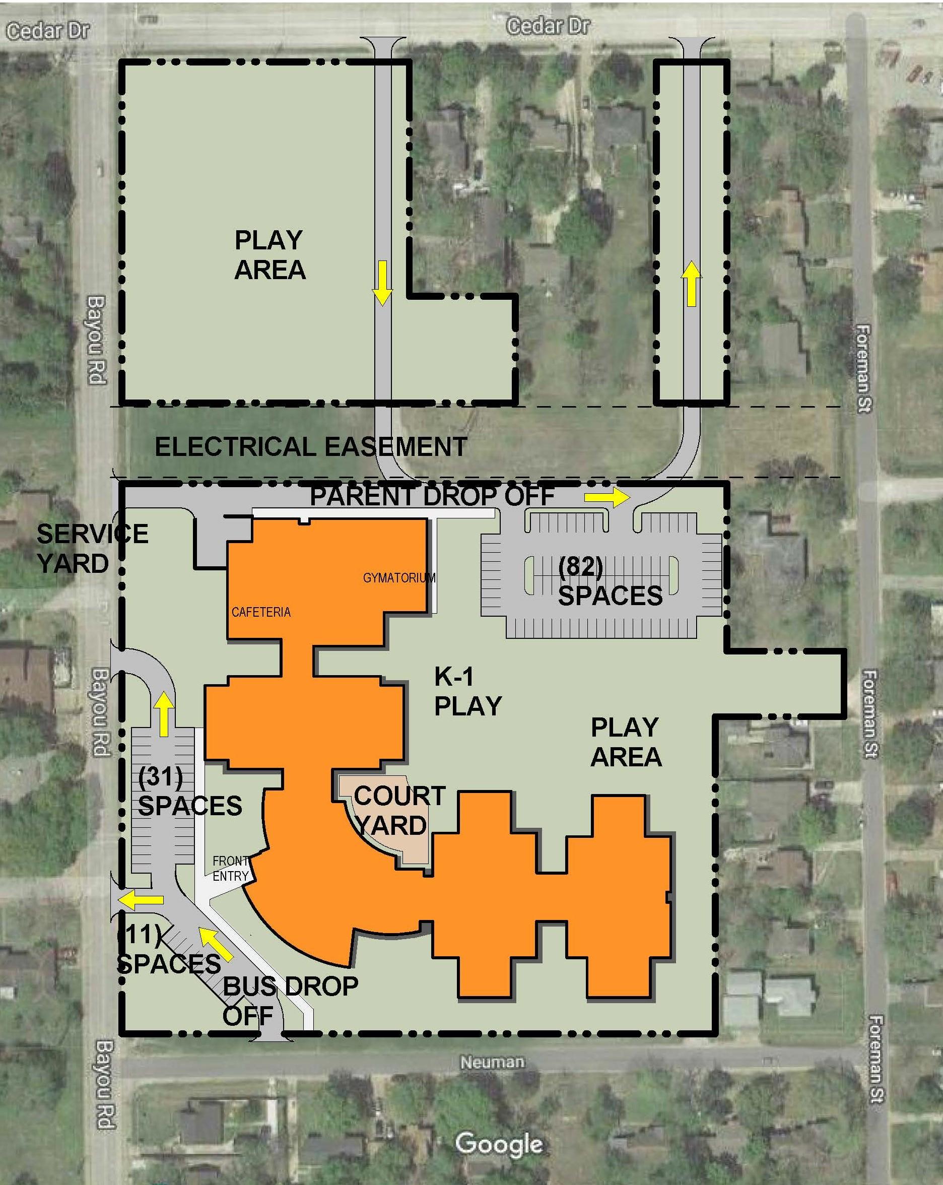 Bayou Road site plan