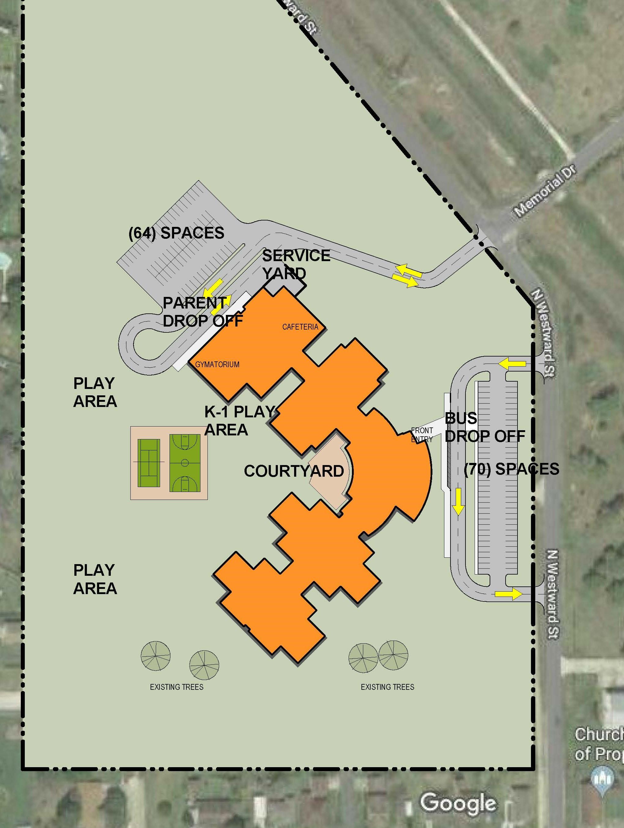 Simms site plan