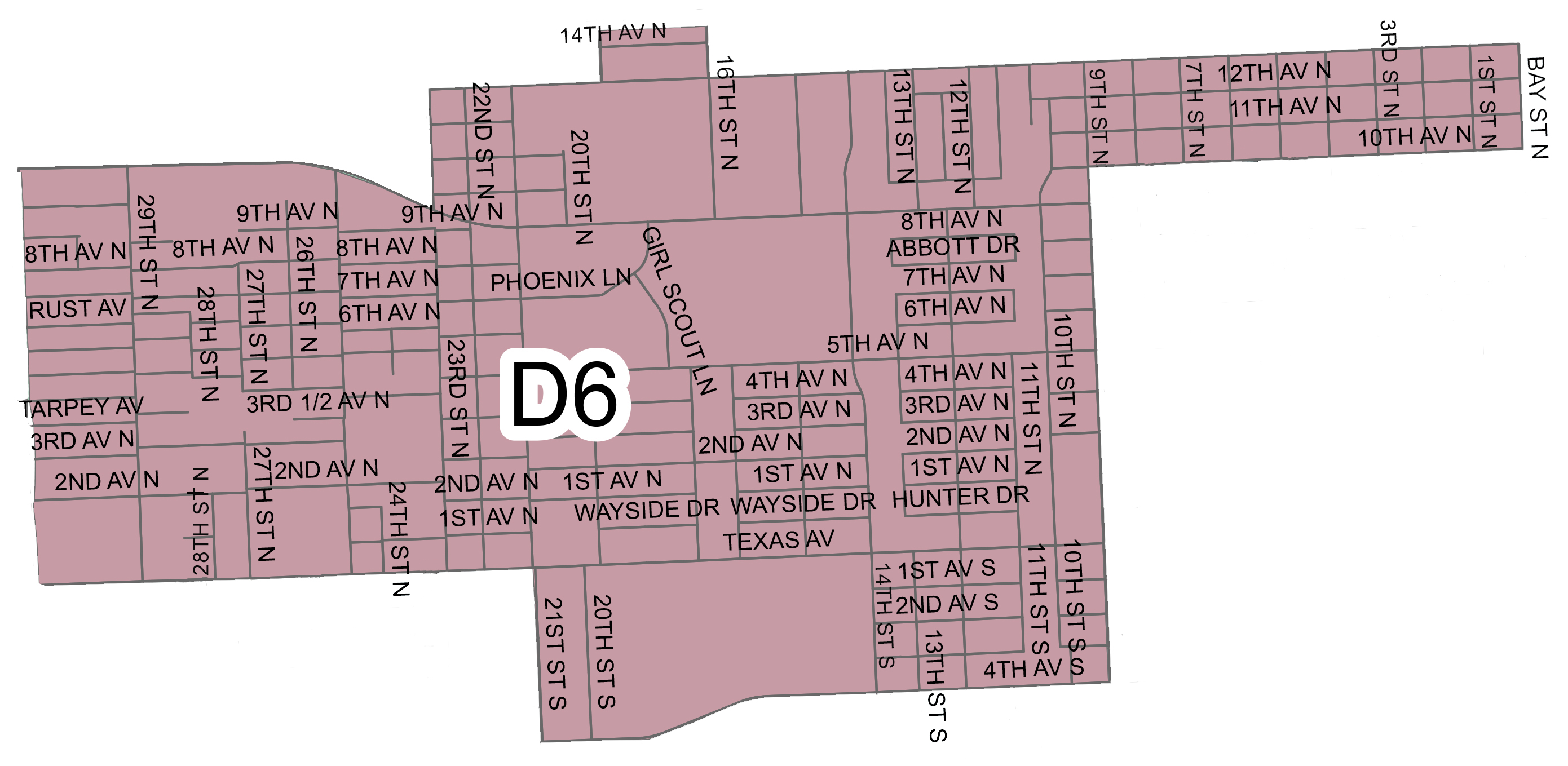 Map Of Texas District 6.Territorial Maps For Trustee Positions Texas City